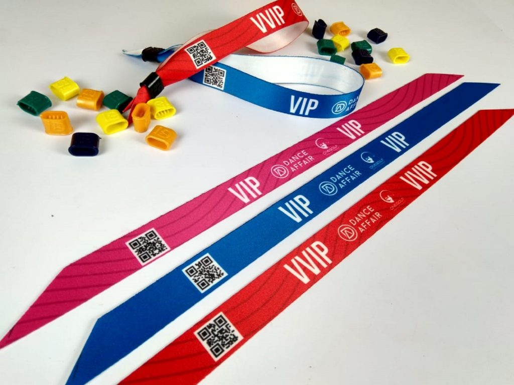 fabric bands with qr code