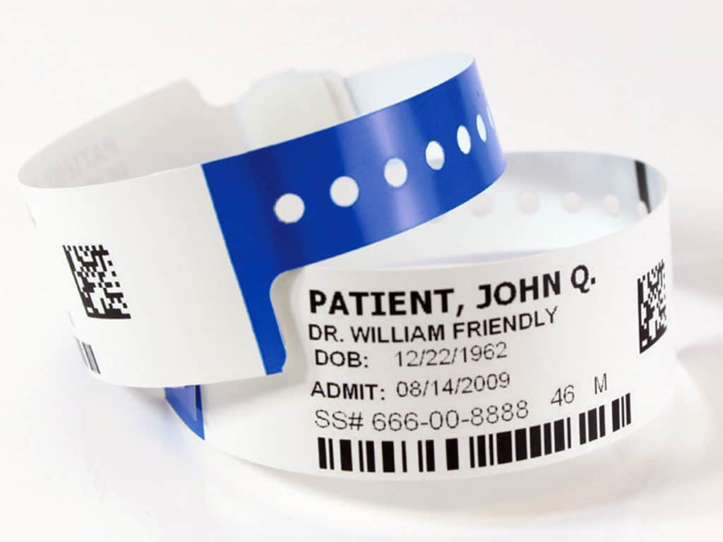 Patient Identification Bands And Tags