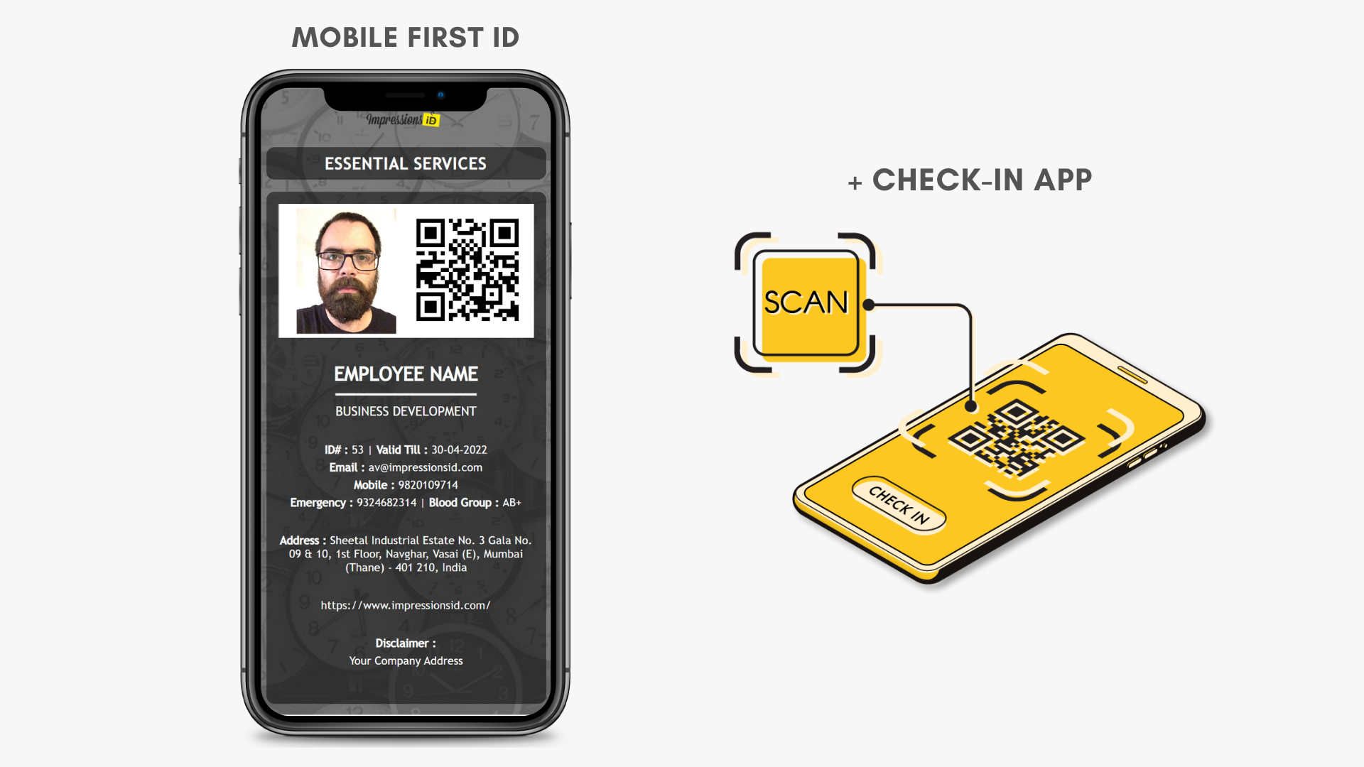 Mobile ID & Check-in App